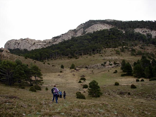 senderismo Pujador de Valero Pas de la Finella Tossal d'Engrillo