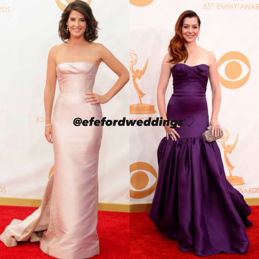 wedding ideas awards 2013 efeford weddings 65th emmy awards 2013 bridal looks 28060
