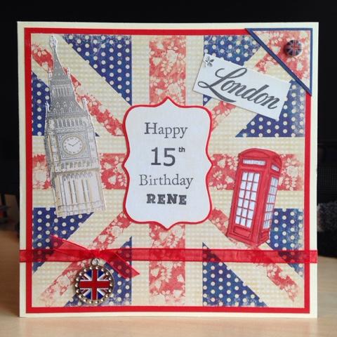 Little Lucys Handmade Cards London Themed 15th Birthday Card – London Birthday Cards
