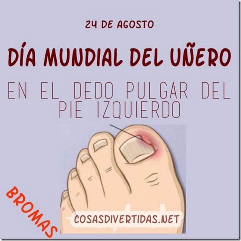 Día Mundial del uñero en el pie izquierdo