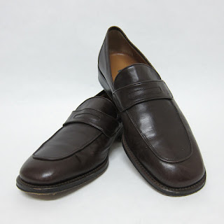 Bally Chocolate Leather Penny Loafers