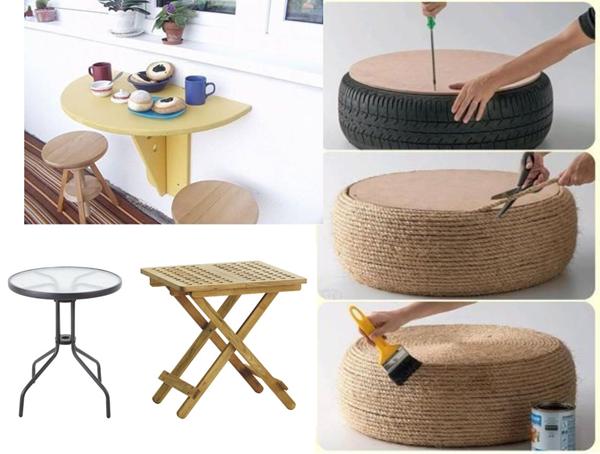 10 pomysłów na balkonowy stolik