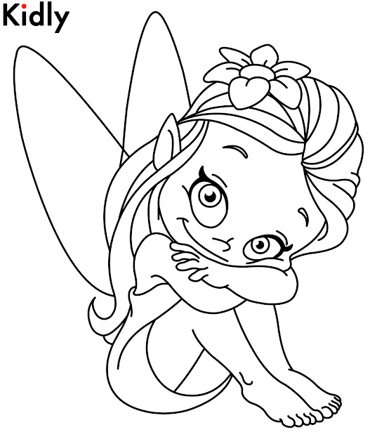 Baby Fairy Coloring Pages  Cartoon Fairies Coloring Pages