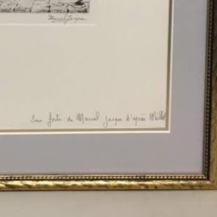 """Marcel Jacques Signed """"La Bouillie"""" Etching"""