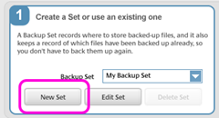 picasa transfer  :: Select a new Backup set