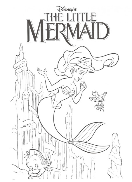 Little Mermaid Coloring Page  Images About Little Mermaid On Pinterest Disney  Coloring Gallery Coloring Ideas