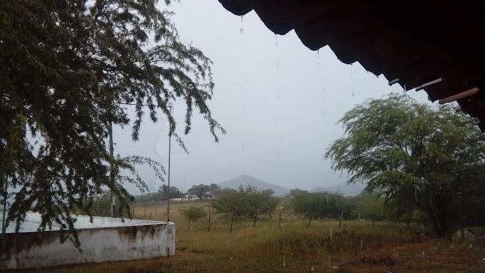 Manha chuvoso na comunidade de formigueiro .