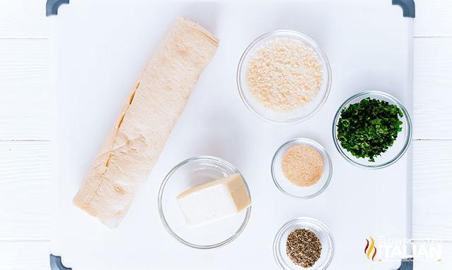 Easy garlic knots recipe ingredients