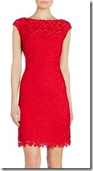 Lauren Ralph Lauren rose lace cap sleeve dress