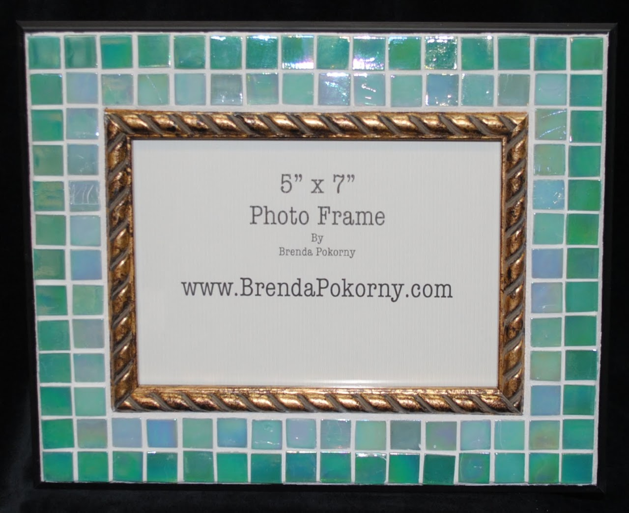 "Two Shades of Seafood 5"" x 7"" Mosaic Photo Frame MOF1434"