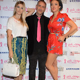 WWW.ENTSIMAGES.COM -    Ashley James, Filippo ioco and Laura Steel   at      Filippo iOco's PINK London 2014 at Gilgamesh, The Stables Market, LondonSwiss body painter iOco throws official London launch party for Breast Cancer Awareness Month. The night is sponsored by Kryolan, and featues a fine art and body painting showcase, with all proceeds going to the Pink Ribbon Foundation.                                                Photo Mobis Photos/OIC 0203 174 1069