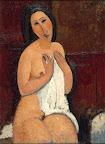 Amedeo Modigliani: Ülő akt inggel, 1917: olaj, vászon, 92 × 67,5 cm (Fotó: © LaM – Lille Métropole Musée d'art moderne, Villeneuve/MNG)