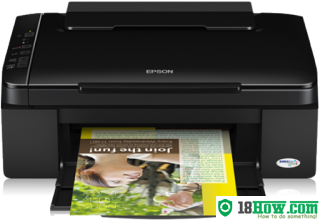 How to reset flashing lights for Epson SX110 printer