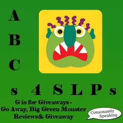 ABCs 4 SLPs: G is for Giveaways - Go Away, Big Green Monster image