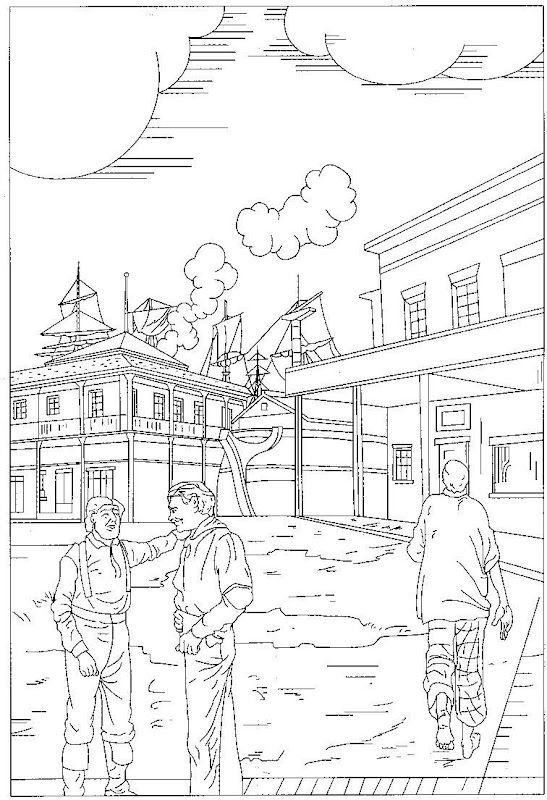 rural community coloring pages - photo#13