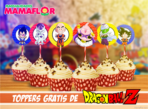 Dragon Ball: Toppers Gratis para Imprimir