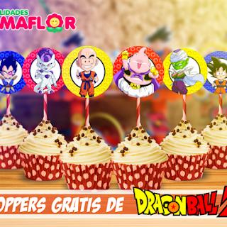 Dragon Ball Imprimibles: Toppers Personalizados para Imprimir
