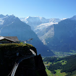 amazing view on the First mountain in Switzerland in Grindelwald, Bern, Switzerland