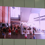 cool projection screen in the main lobby in Odaiba, Tokyo, Japan