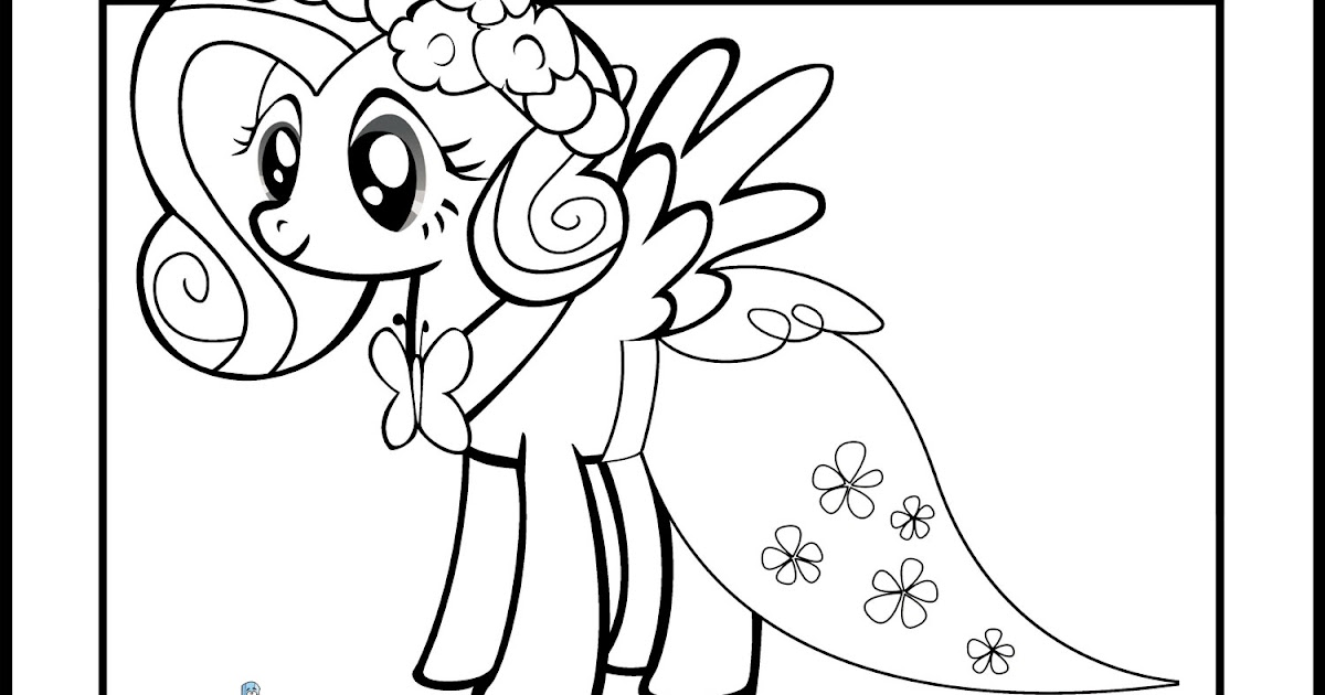 fluttershy my little pony coloring page - my little pony fluttershy coloring pages