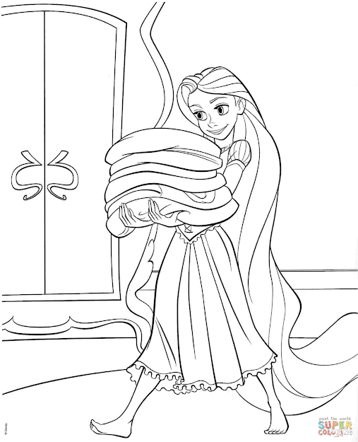 Click The Tangled Rapunzel Coloring Pages