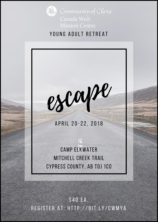 CWM YA Retreat April Poster