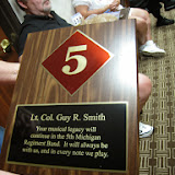 This plaque was presented to Carol Smith.