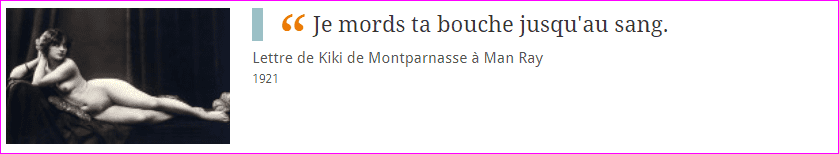 Lettre de kiki de Montparnasse