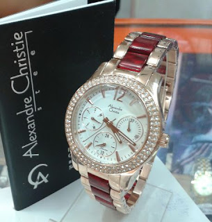 jam tangan Alexander cristie full rosegold