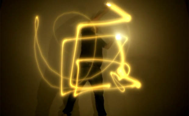 Light Painting Performance Using Olafur Eliasson's Little Sun