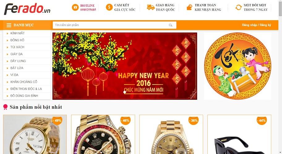 Website bán hàng thời trang trực tuyến FRD