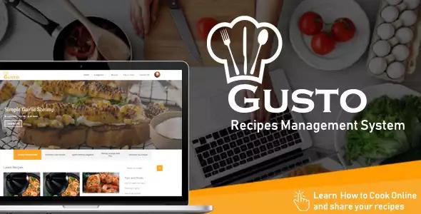 Gusto v3.2 – Recipes Management System Script