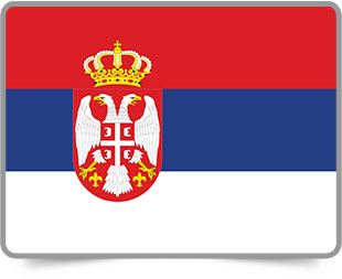 Serbian framed flag icons with box shadow