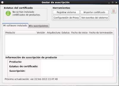 Registro RedHat 6 Red Hat Subscription Management 2