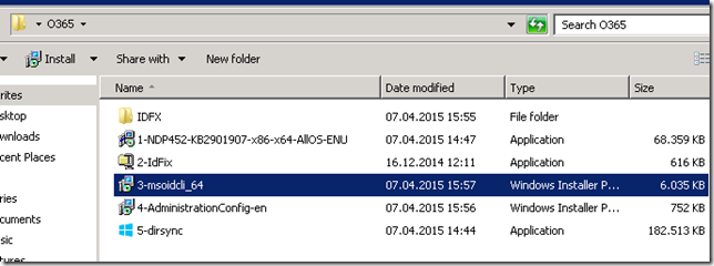 Azure Active Directory Sync tool installation - backup_2015