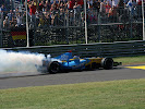 Fernando Alonso has engine failure at Monza