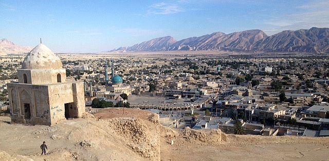 Blick vom Burgberg auf Lar, Provinz Fars, Iran