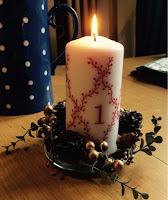 Advent Candle http://laura-honeybee.blogspot.com/2015/12/our-christmas-traditions.html