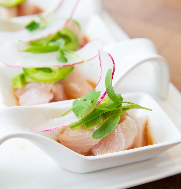 close-up photo of Hamachi Spoons