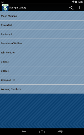 Download Android App Georgia Lottery Results for Samsung