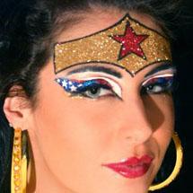 Maquiagem artística - mulher maravilha