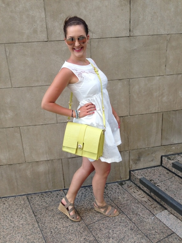 The little white dress OOTD - thelipstickdiaries