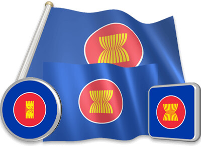 ASEAN flag animated gif collection
