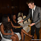 OIC - ENTSIMAGES.COM - Rene Byrd and J.Spades - Magician at the   Nina Naustdal - catwalk show  as Oslo born designer exhibits her aw 2015 couture - ss 2016 and childrens wear collections in collaboration with MTV Staying Alive Foundation in London 27th September 2015 Photo Mobis Photos/OIC 0203 174 1069
