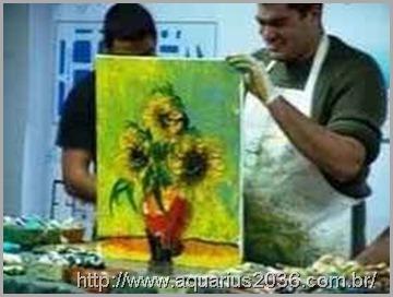 As pinturas mediunicas florencio antanton em Fortaleza são leiloadas.