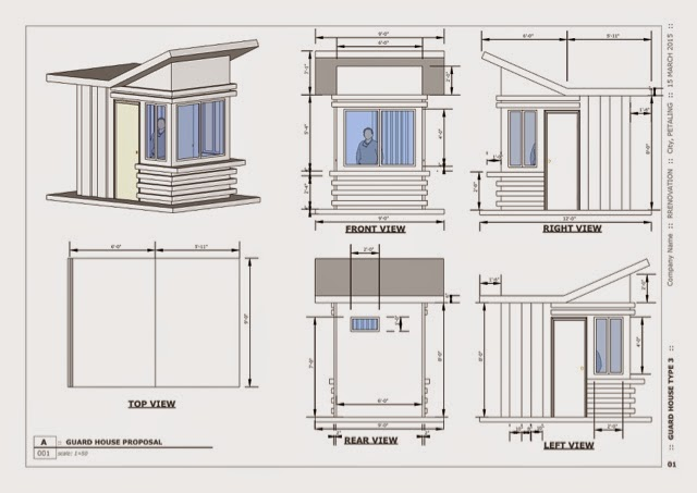 House plan with measurement joy studio design gallery for Guard house design layout