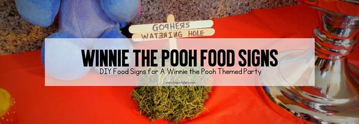 DIY Winnie the Pooh Party Food Signs