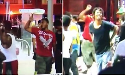 Protesters danced and taunted Police after shooting