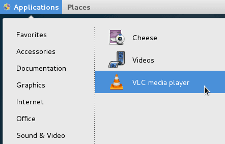 application > sounds and video vlc
