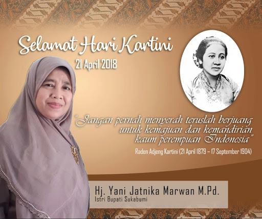 Yani Djatnika Marwan, Istri Bupati Sukabumi Memaknai Hari Kartini